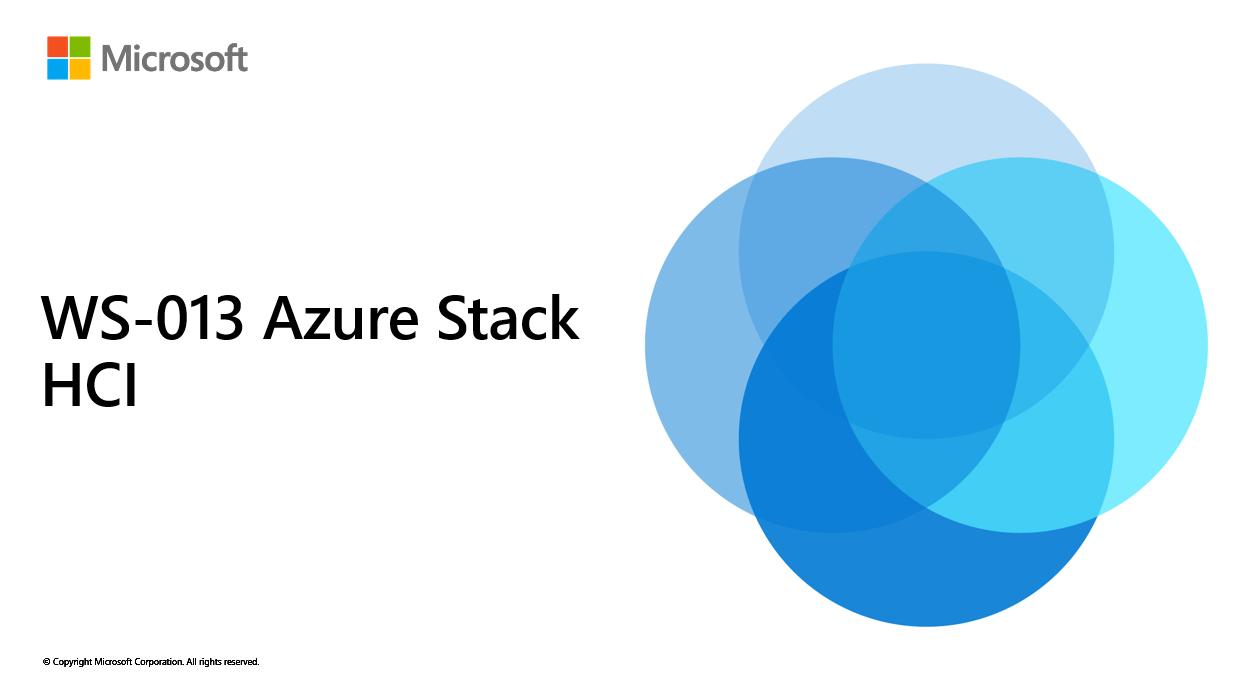 WS-013 – Azure Stack HCI