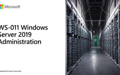 WS-011 – Windows Server 2019 Administration