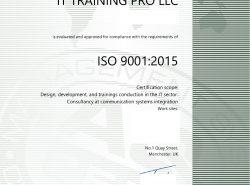 ISO 9001:2005 Certified in Trainings
