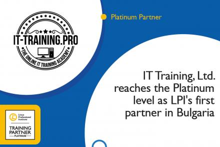 IT Training, Ltd. reaches the Platinum level as LPI's first partner in Bulgaria