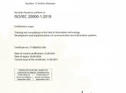 ISO 20000-1:2018