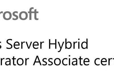 AZ-800: Administering Windows Server Hybrid Core Infrastructure (beta)